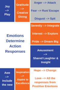 Emotions Determine Action Responses
